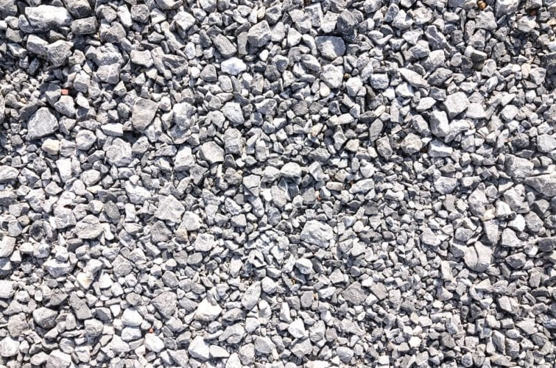 Crushed concrete as aggregate